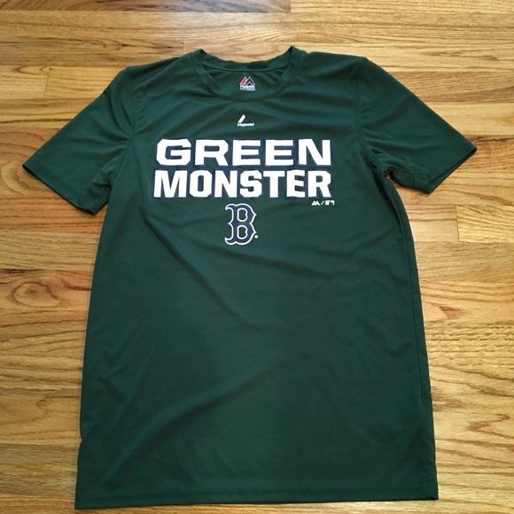 official photos 01630 ea1aa Boston Red Sox Mean Green Shirt